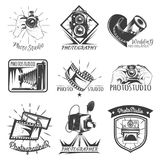 Camera photography vintage photo logo, retro concept Stock Photography