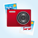 Camera and photos Stock Photos