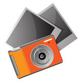 Camera with photos Stock Image