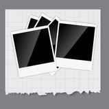 Camera, photos frame vector illustration Stock Photography