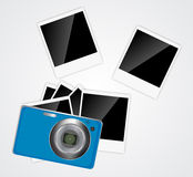 Camera, photos frame vector illustration Royalty Free Stock Photo
