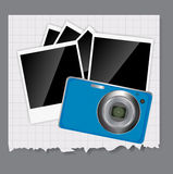 Camera, photos frame vector illustration Royalty Free Stock Image