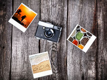 Camera and photos from Goa Royalty Free Stock Photo