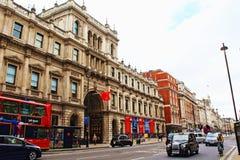 Camera Piccadilly Mayfair Londra Regno Unito di Burlington Fotografia Stock Libera da Diritti