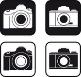 Camera pictogram bw Royalty Free Stock Image