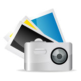 Camera with pictures Stock Photo