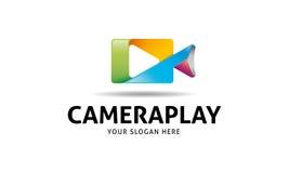 Camera Play Logo Stock Image