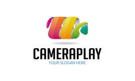 Camera Play Logo Royalty Free Stock Image