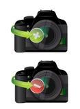 Camera plus and minus icons Stock Photos