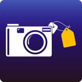 Camera price Royalty Free Stock Images