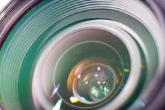 Camera professional lens closeup photo. Colorful macro image royalty free stock images