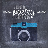 Camera quote illustration Stock Photo