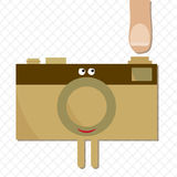 Camera ready to shoot. Character Stock Photography