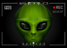 Camera rec alien in dark Royalty Free Stock Images