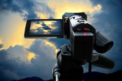 Camera rec sky Royalty Free Stock Photography