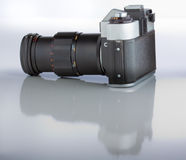 Camera with reflection Royalty Free Stock Images