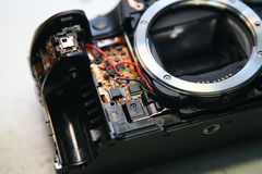 Camera repair Royalty Free Stock Images