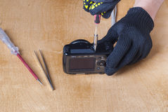 Camera repair Royalty Free Stock Images