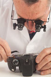 Camera Repairman Royalty Free Stock Photography