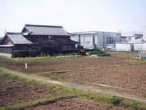 Camera residenziale e piccola fabbrica nel Giappone Immagine Stock Libera da Diritti