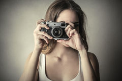 Camera retro Stock Photo