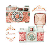 Camera in retro style Royalty Free Stock Photos