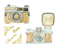 Camera in retro style Royalty Free Stock Photo