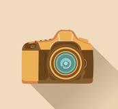 Camera in retro style Stock Photography