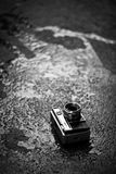Camera on the road Stock Image