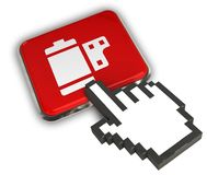 Camera Roll Icon. 3D illustration Icon- Hand Cursor Click Royalty Free Stock Images