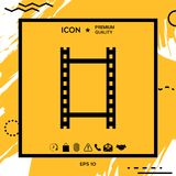 Camera Roll, photographic film, camera film icon. Element for your design Royalty Free Stock Image
