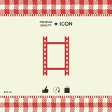 Camera Roll, photographic film, camera film icon. Element for your design Royalty Free Stock Photography