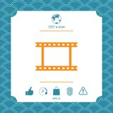 Camera Roll, photographic film, camera film symbol icon. Element for your design Royalty Free Stock Photos
