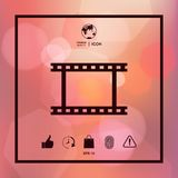 Camera Roll, photographic film, camera film symbol icon. Element for your design Stock Images