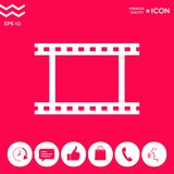 Camera Roll, photographic film, camera film symbol icon. Element for your design . Signs and symbols - graphic elements for your design Royalty Free Stock Photos