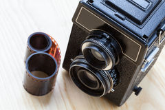 Camera and roll Royalty Free Stock Photo