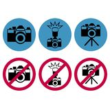 Camera round icons Stock Photography