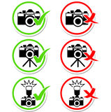 Camera round icons set Royalty Free Stock Images