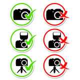 Camera round icons set Stock Photo