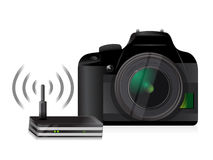 Camera with wifi Royalty Free Stock Image