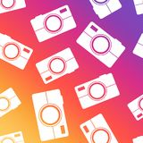 Camera seamless pattern background. Business flat vector. Camera seamless pattern background. Business flat vector illustration. Camera sign symbol pattern Royalty Free Stock Images