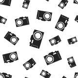 Camera seamless pattern background. Business flat vector. Illustration. Photocamera symbol pattern Royalty Free Stock Photos