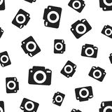 Camera seamless pattern background. Business flat vector. Illustration. Photocamera symbol pattern Royalty Free Stock Image