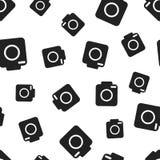 Camera seamless pattern background. Business flat vector. Illustration. Photocamera symbol pattern Stock Images