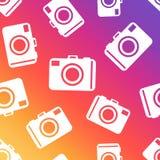 Camera seamless pattern background. Business flat vector illustr. Ation. Camera sign symbol pattern Stock Images