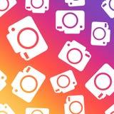 Camera seamless pattern background. Business flat vector illustr. Ation. Camera sign symbol pattern Stock Photography
