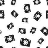 Camera seamless pattern background. Business flat vector. Illustration. Photocamera symbol pattern Royalty Free Stock Photo