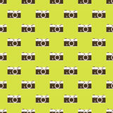 Camera seamless pattern background Stock Images