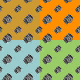 Camera seamless. . Camera seamless. pattern 4 colors Royalty Free Stock Image