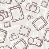 Camera seamless pattern. This is file of EPS10 format Stock Photo